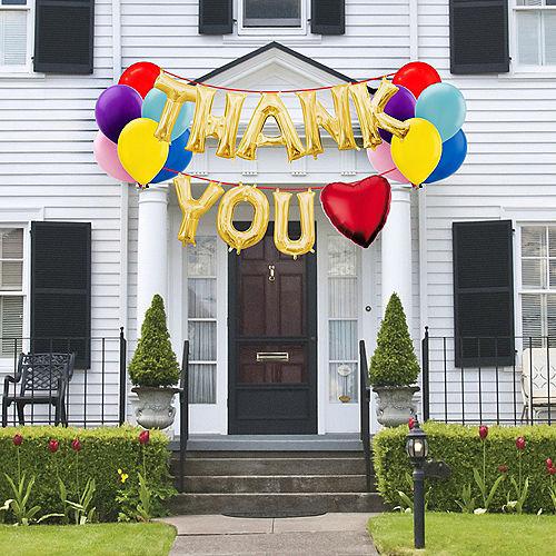 Thank You Inspirational Balloon Phrase Banner Kit Image #1