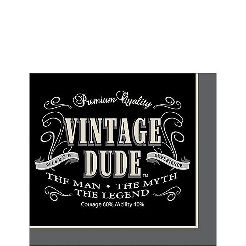 Vintage Dude 40th Birthday Tableware Kit for 8 Guests Image #4