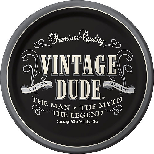 Vintage Dude 60th Birthday Tableware Kit for 8 Guests Image #3