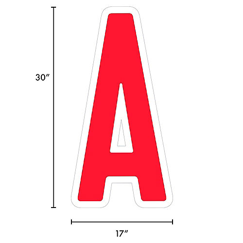 Giant Red Corrugated Plastic Letter (A) Yard Sign, 30in Image #2