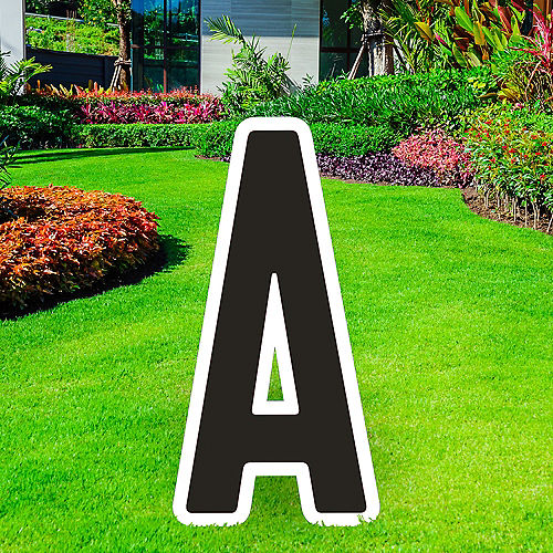 Giant Black Corrugated Plastic Letter (A) Yard Sign, 30in Image #1