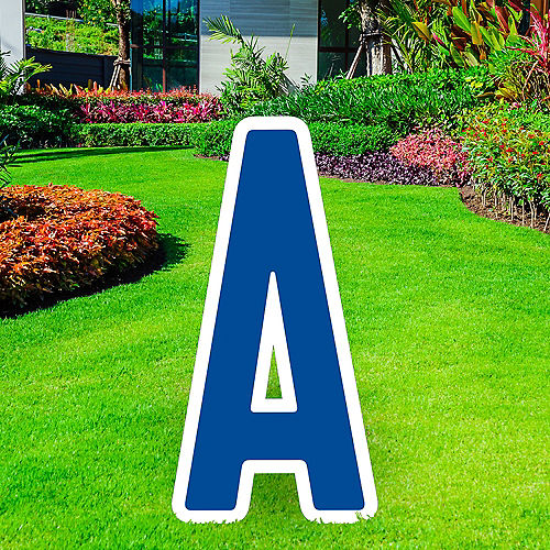 Giant Royal Blue Corrugated Plastic Letter (A) Yard Sign, 30in Image #1