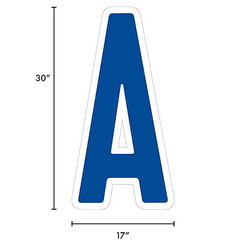 Giant Royal Blue Corrugated Plastic Letter (A) Yard Sign, 30in Image #2