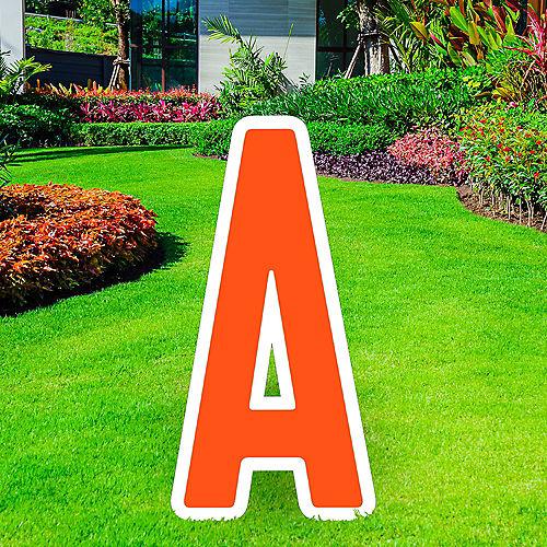 Giant Orange Corrugated Plastic Letter (A) Yard Sign, 30in Image #1