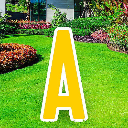 Giant Yellow Corrugated Plastic Letter (A) Yard Sign, 30in Image #1