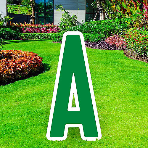 Giant Festive Green Corrugated Plastic Letter (A) Yard Sign, 30in Image #1