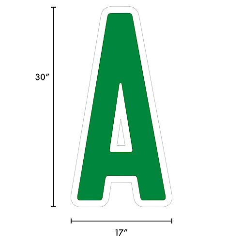 Giant Festive Green Corrugated Plastic Letter (A) Yard Sign, 30in Image #2