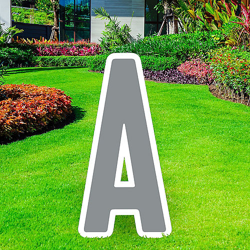 Giant Silver Corrugated Plastic Letter (A) Yard Sign, 30in Image #1