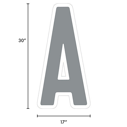 Giant Silver Corrugated Plastic Letter (A) Yard Sign, 30in Image #2