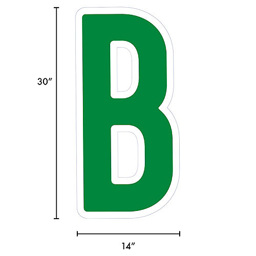 Giant Festive Green Corrugated Plastic Letter (B) Yard Sign, 30in Image #2