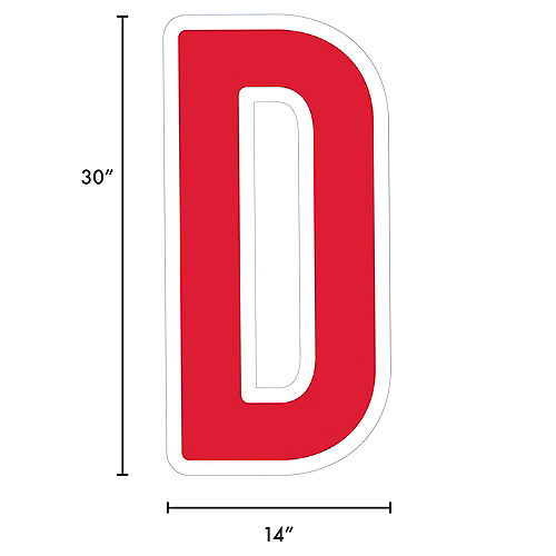 Giant Red Corrugated Plastic Letter (D) Yard Sign, 30in Image #2