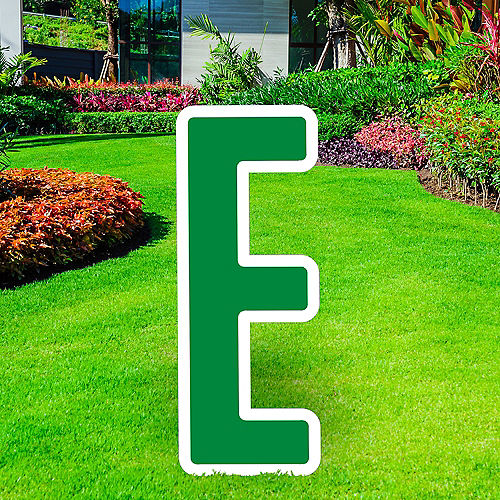 Giant Festive Green Corrugated Plastic Letter (E) Yard Sign, 30in Image #1