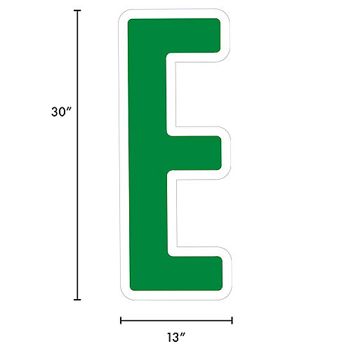 Giant Festive Green Corrugated Plastic Letter (E) Yard Sign, 30in Image #2
