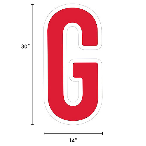 Giant Red Corrugated Plastic Letter (G) Yard Sign, 30in Image #2