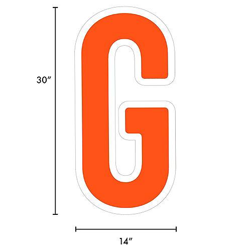 Giant Orange Corrugated Plastic Letter (G) Yard Sign, 30in Image #2