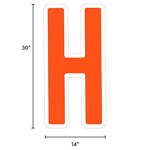 Giant Orange Corrugated Plastic Letter (H) Yard Sign, 30in Image #2