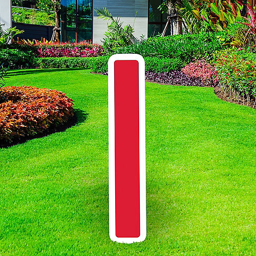 Giant Red Corrugated Plastic Letter (I) Yard Sign, 30in Image #1