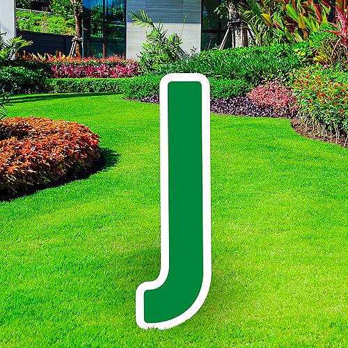 Giant Festive Green Corrugated Plastic Letter (J) Yard Sign, 30in Image #1
