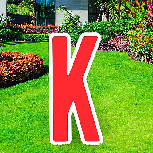 Giant Red Corrugated Plastic Letter (K) Yard Sign, 30in Image #1