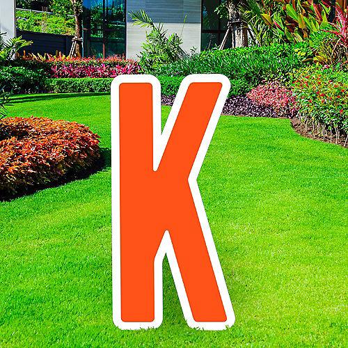 Giant Orange Corrugated Plastic Letter (K) Yard Sign, 30in Image #1