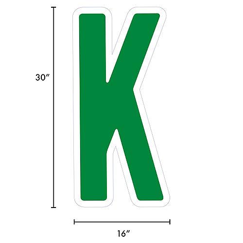 Giant Festive Green Corrugated Plastic Letter (K) Yard Sign, 30in Image #2