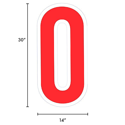Giant Red Corrugated Plastic Letter (O) Yard Sign, 30in Image #2