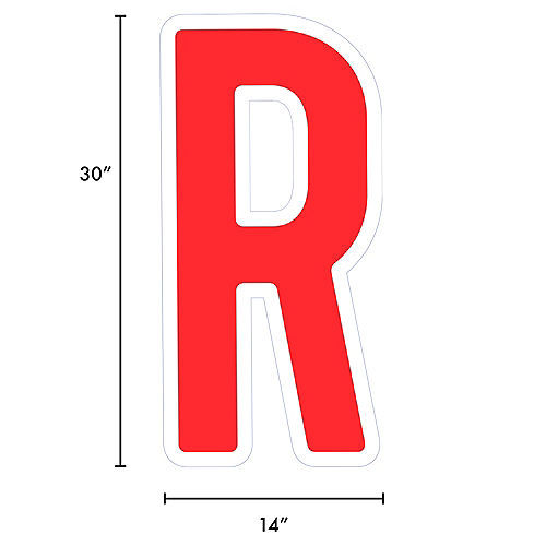 Giant Red Corrugated Plastic Letter (R) Yard Sign, 30in Image #2