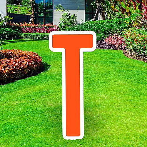 Giant Orange Corrugated Plastic Letter (T) Yard Sign, 30in Image #1