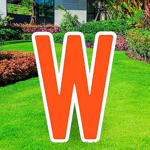 Giant Orange Corrugated Plastic Letter (W) Yard Sign, 30in Image #1