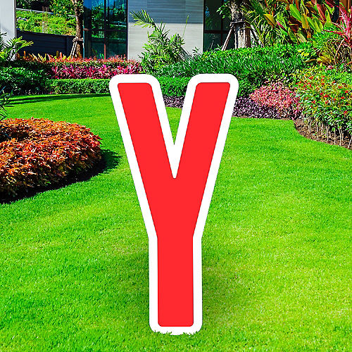 Giant Red Corrugated Plastic Letter (Y) Yard Sign, 30in Image #1