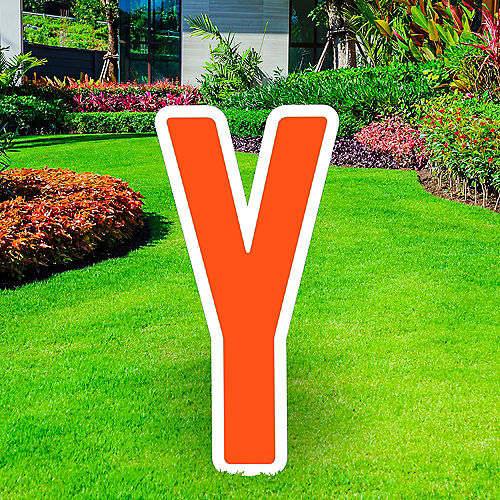 Giant Orange Corrugated Plastic Letter (Y) Yard Sign, 30in Image #1