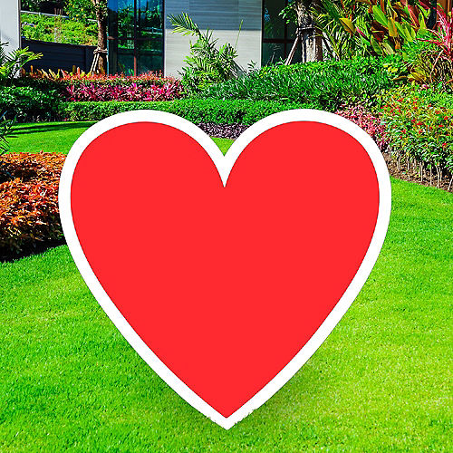 Giant Red Corrugated Plastic Heart Yard Sign, 26in Image #1