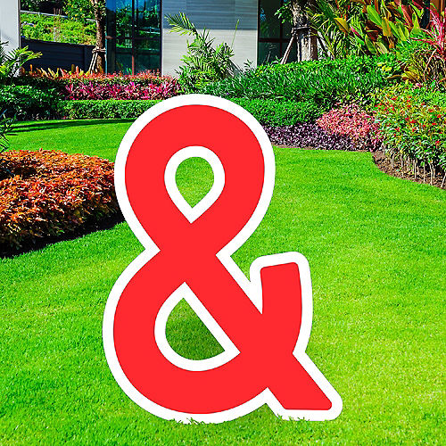 Giant Red Corrugated Plastic Ampersand Yard Sign, 30in Image #1