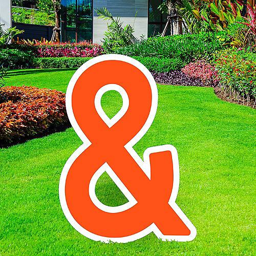 Giant Orange Corrugated Plastic Ampersand Yard Sign, 30in Image #1