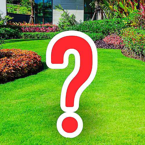 Giant Red Corrugated Plastic Question Mark Yard Sign, 20in Image #1