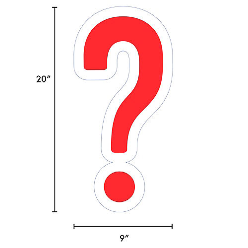 Giant Red Corrugated Plastic Question Mark Yard Sign, 20in Image #2