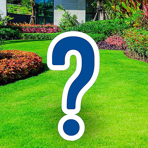Giant Royal Blue Corrugated Plastic Question Mark Yard Sign, 20in Image #1
