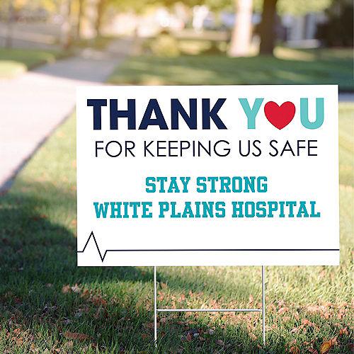 Custom Thank You Nurses Yard Sign Image #1