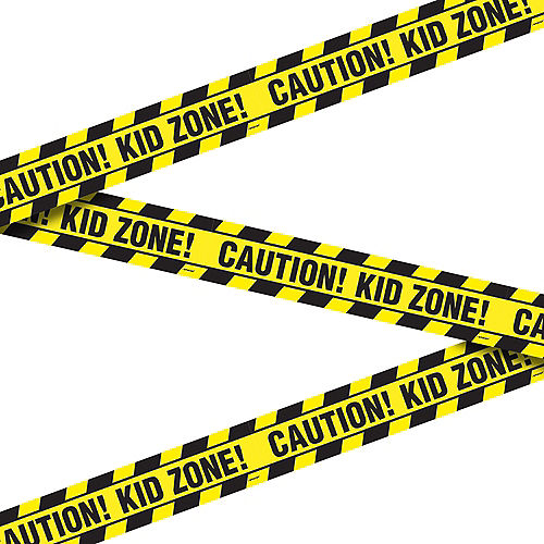 Caution, Kid Zone! Construction Tape, 20ft Image #1
