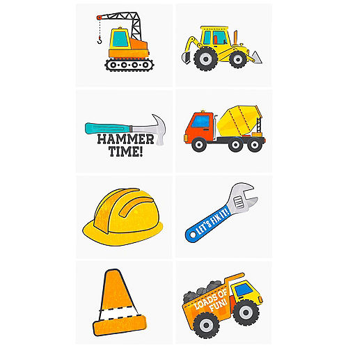 Construction Tattoos, 1 Sheet Image #1