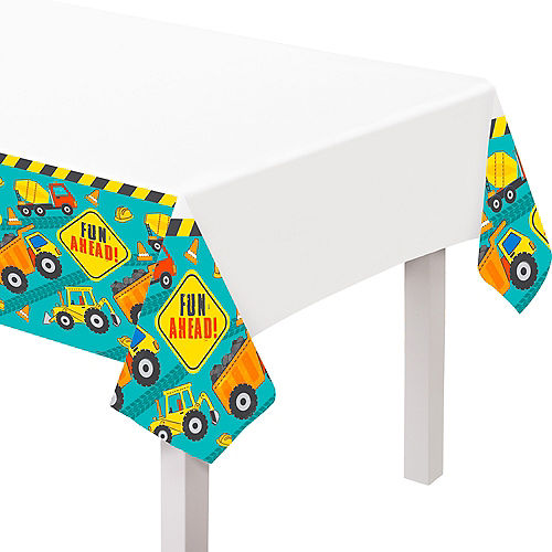 Construction Party Paper Table Cover Image #1