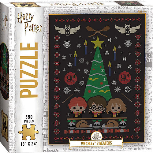 Weasley Sweaters Puzzle, 550pc - Harry Potter Image #1