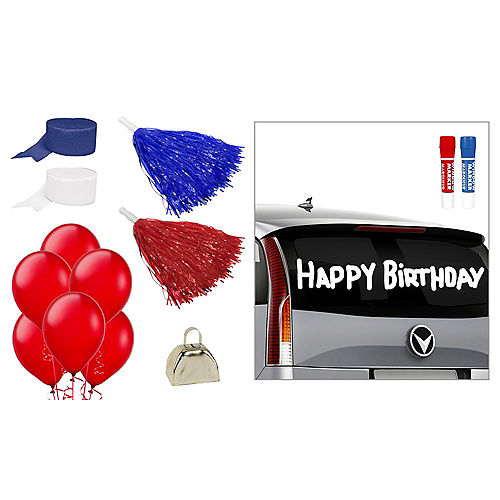 Red, White & Blue Car Decorating Kit Image #1
