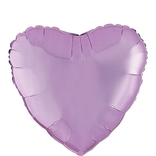 Abundant Love Lavender Heart Balloon Bouquet, 17in, 12pc with Helium Tank Image #2