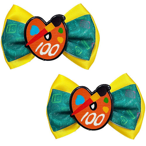 Paint Palette Hair Bows 2ct - 100 Days of School Image #1