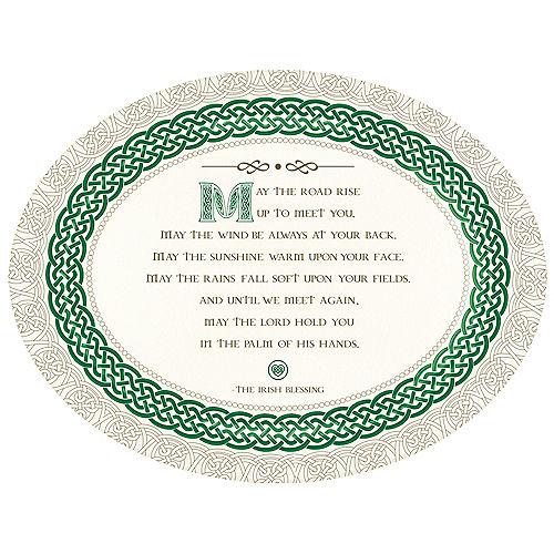 Irish Blessing St. Patrick's Day Melamine Platter, 18in Image #1
