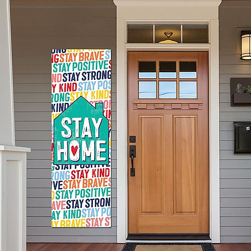 Bright Stay Home Vertical Banner Image #1