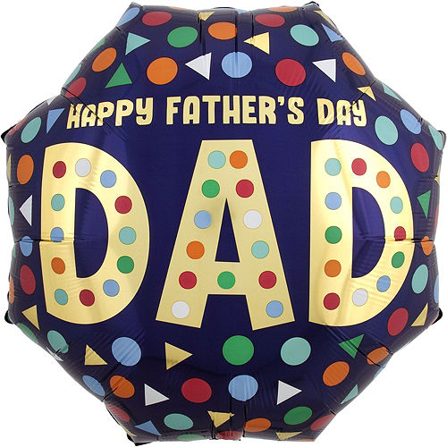 Multicolor Shapes Father's Day Balloon Bouquet, 8pc Image #5