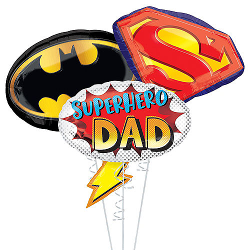 Super Dad Father's Day Balloon Bouquet, 3pc Image #1