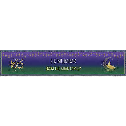 Custom Eid Mubarak Table Runner Image #1